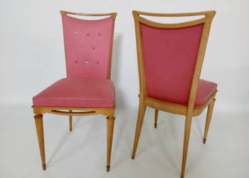 Urocze pikowane krzesła z lat 50/60.