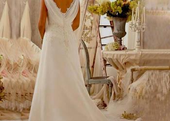 Suknia ślubna V-neck cywilny koronka 36 S