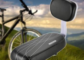 Siodełko dla 2 osoby z oparciem montowane na bagażnik roweru