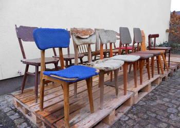 Krzesła Drewno PRL Różne Modele