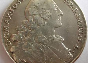 1 Talar Bawaria 1760 Oryginał srebro Piękny !!!
