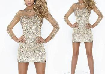 Sukienka na studniówkę sukienka z kryształkami
