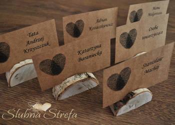 winietki ekologiczne, winietki eko, drewniana podstawka