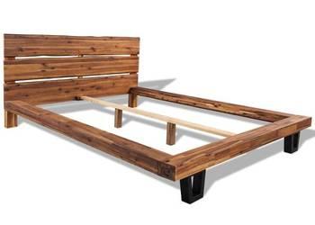 vidaXL Rama łóżka z litego drewna akacjowego (244998)