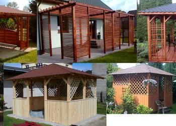 Wyroby z drewna, altanka, meble ogrodowe, pergola, huśtawka