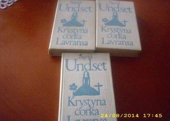 Krystyna córka Lavransa -  Undset tom 1, 2 i 3  komplet/fa