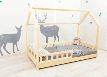 Łóżko dla dzieci Domek z barierkami ochronnymi Sklep !