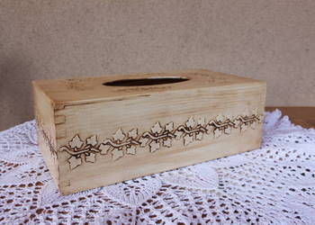 Chustecznik pudełko na chusteczki vintage