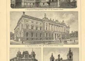 ARCHITEKTURA  oryginalne XIX w. grafiki