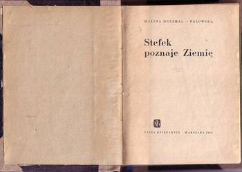 (8164)  STEFEK POZNAJE ZIEMIĘ – HALINA DUCZMAL - PACOWSKA