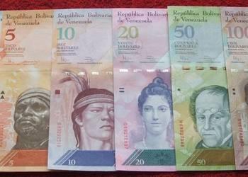WENEZUELA Kolekcjonerskie Banknoty Zestaw - 6 sztuk UNC