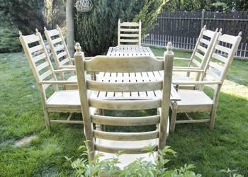 Krzesło dębowe ogrodowe