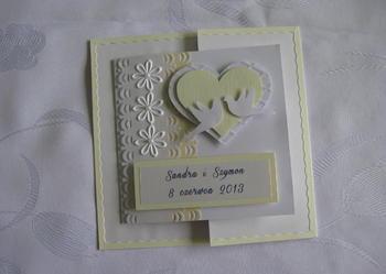 Ślubna Karta z kopertką na pieniądze + Koperta
