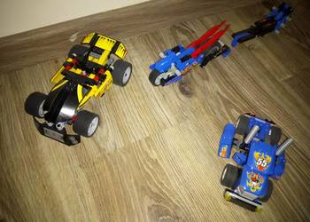 Lego Racers - 4 auta + motor - 8668, 8646, 8166, 7967, 7971