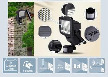 Lampa Solarna 120Led.CZUJNIK ruchu.Reflektor Solar.Halogen., używany na sprzedaż  Łódź