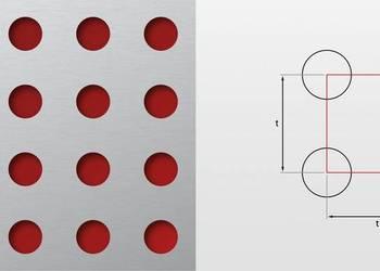 Blachy perforowane Rv okrągłe różne wzory stalowe czarne pro