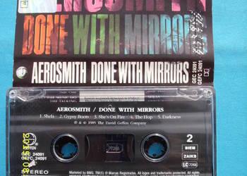 ROCK, kaseta; AEROSMITH--DONE WITH MIRORS .