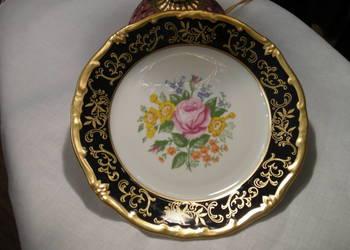Talerzyk porcelanowy Weimar kobalt złocony antyk