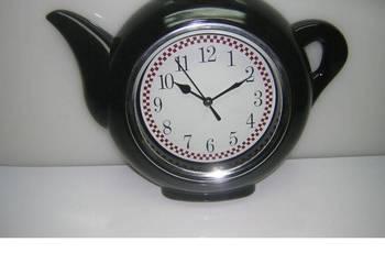 Zegar kuchenny dzbanek ścienny wiszący do kuchni