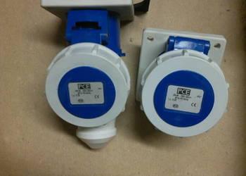 Gniazdo tablicowe 16A 3P 230V /75x75/ niebieskie IP67  3132