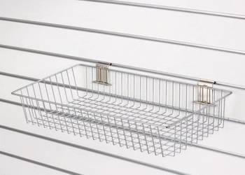 Kosz sklepowy płytki 40x20x10 chromowany na panel