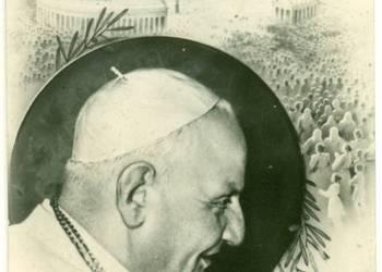 Papież Jan XXIII kartka świąteczna