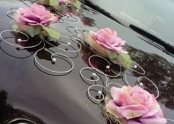 DEKORACJA stroik na samochód do ślubu