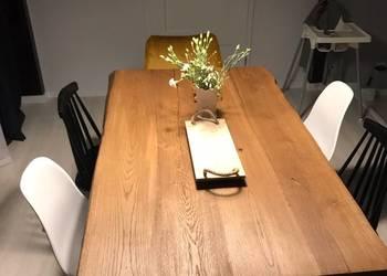 """Nowoczesny stół industrialny """"live edge"""" producent stołów"""