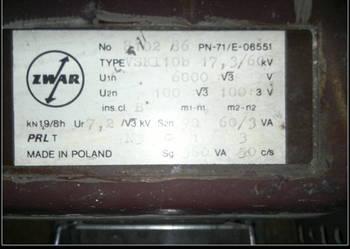 Przekładnik napięciowy zwar 6000V