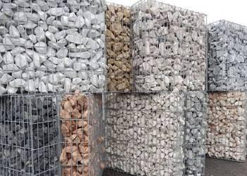 Kamien Gabion Gabionowy GaBiony ogrodzenie Płot łupek granit