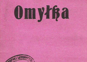 Omyłka - B. Prus.