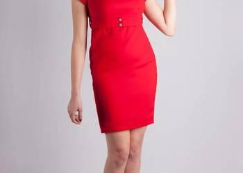 702f8d9ea9 Biznesowa sukienka z krótkim rękawkiem De Marco