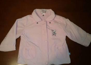 Dziewczęca kurtka letnia różowa - rozmiar 80