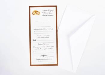 Zaproszenia Perłowe DL do samodzielnego wypisania