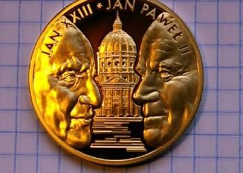 MEDAL - PORTRET PODWÓJNY JAN PAWEŁ II i JAN XXIII