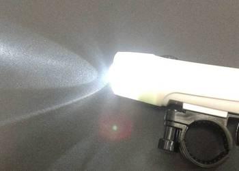 MOCNA LAMPKA ROWEROWA PRZEDNIA ŚWIATEŁKO DO ROWERU UCHWYT