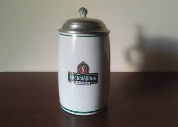 "Kolekcjonerski, kufel z cynową klapką ""Feldschlosschen"""