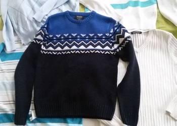 Męski ciepły swetr Pull&bear  wzorek JAK  Armani  rozm. S