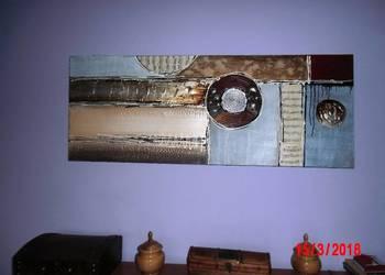 Obraz olejny duży - Kolaż  INSPIRACJE MUZYCZNE 50x130cm.