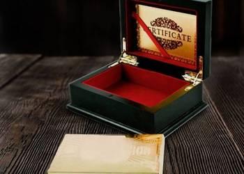 ZŁOTE KARTY 24 karat Talia SZKATUŁKA Etui Pudełko Certyfikat