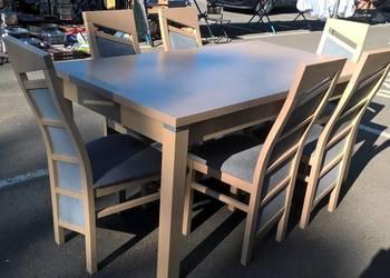 Stół - 90/160/215 + 6 krzeseł - dostawa cała Polska