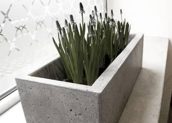 Donice z betonu architektonicznego - Antracyt