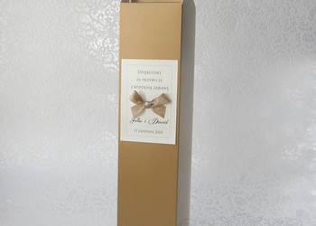 Pudełko na alkohol weselny wódkę weselną ślub +PERSONALIZACJ