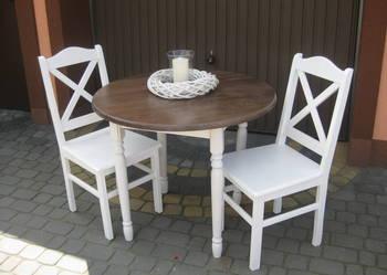 Prowansalski stół okrągły 90 nogi toczone biały producent