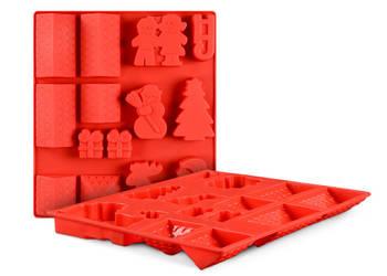 Forma silikonowa 3D świąteczna wypieków, babeczek, ciastek