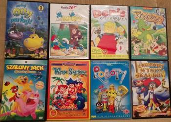 PŁYTY DVD dla dzieci 8 sztuk opcja wysyłki