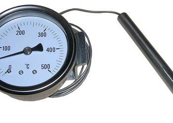 Termometr tarczowy 0+500stC z kapilarą 110cm