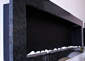 BIOKOMINEK do zabudowy KAMIENNY ścienny wiszący 150CM