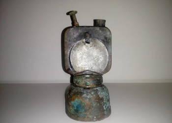 Zabytkowa miedziana lampa karbidowa