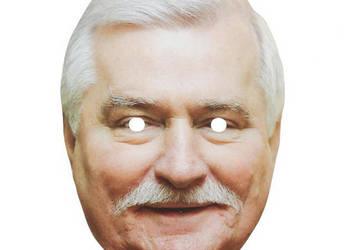 Maska papierowa Lech Wałęsa